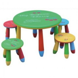 Cartoon table with stools table 70*47cm stool 28.5*25cm